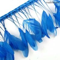 Перья петуха на ножках / Бирюзово-синие