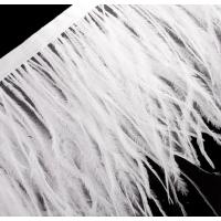 Перо страуса на ленте. Цвет: Белый
