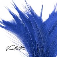 Перо павлина-меч / Синий