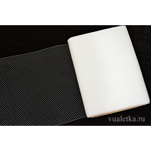 Вуаль 45 см. без мушек/ Белый