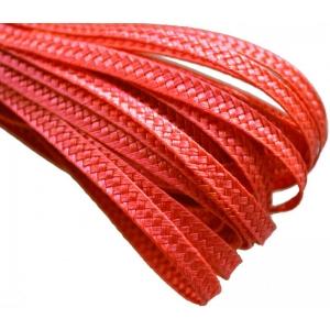 Тесьма плетеная. Цвет: Красный