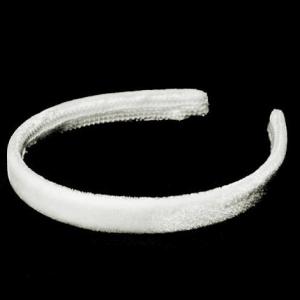 Бархатный ободок- 1.2 см. Цвет: Белый