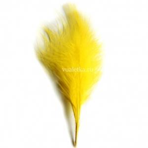 Перья марабу/ Желтый