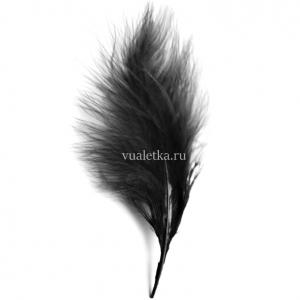 Перья марабу/ Черный