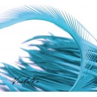 Перья-Биот на ленте. Цвет: Бирюза